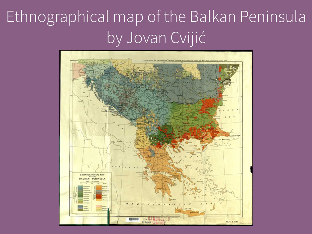 Ethnographical map of the Balkan Peninsula by J...