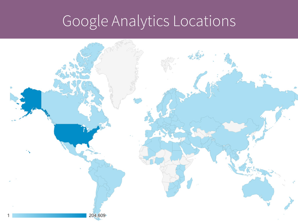 Google Analytics Locations