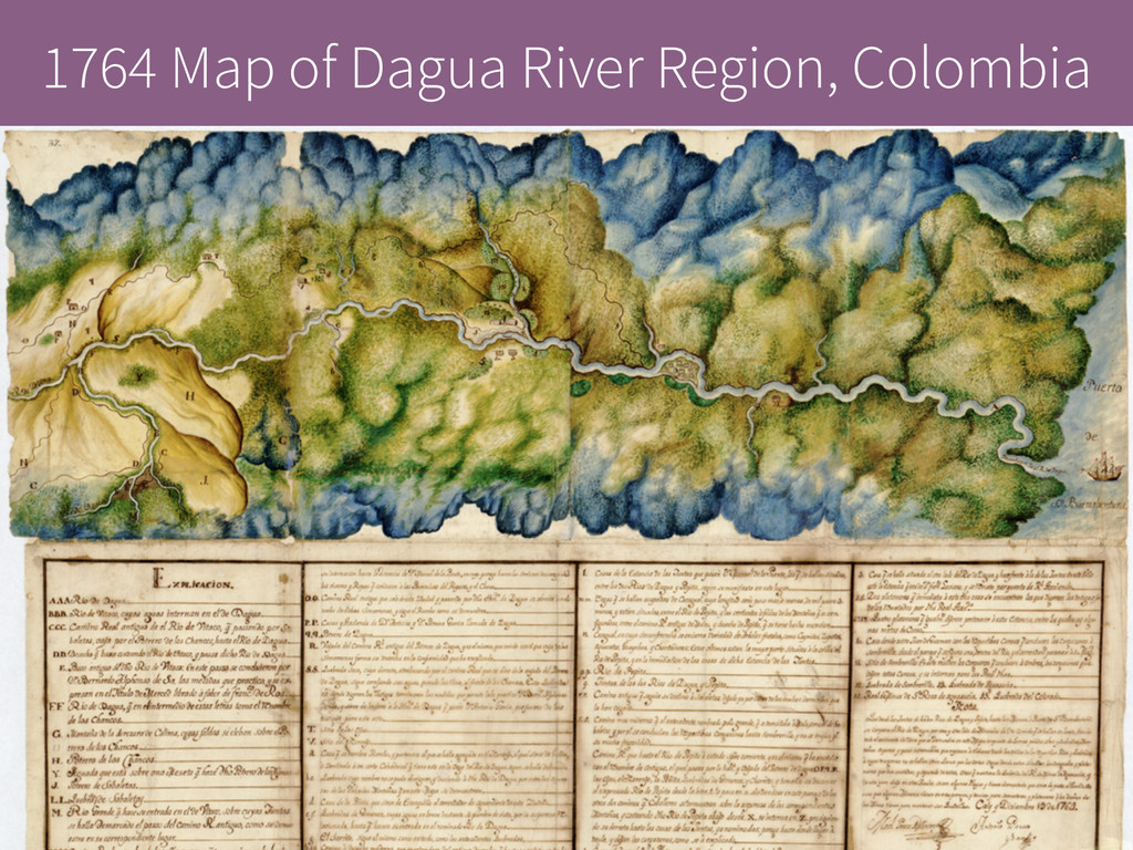 1764 Map of Dagua River Region, Colombia