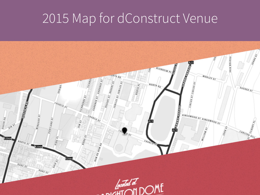 2015 Map for dConstruct Venue