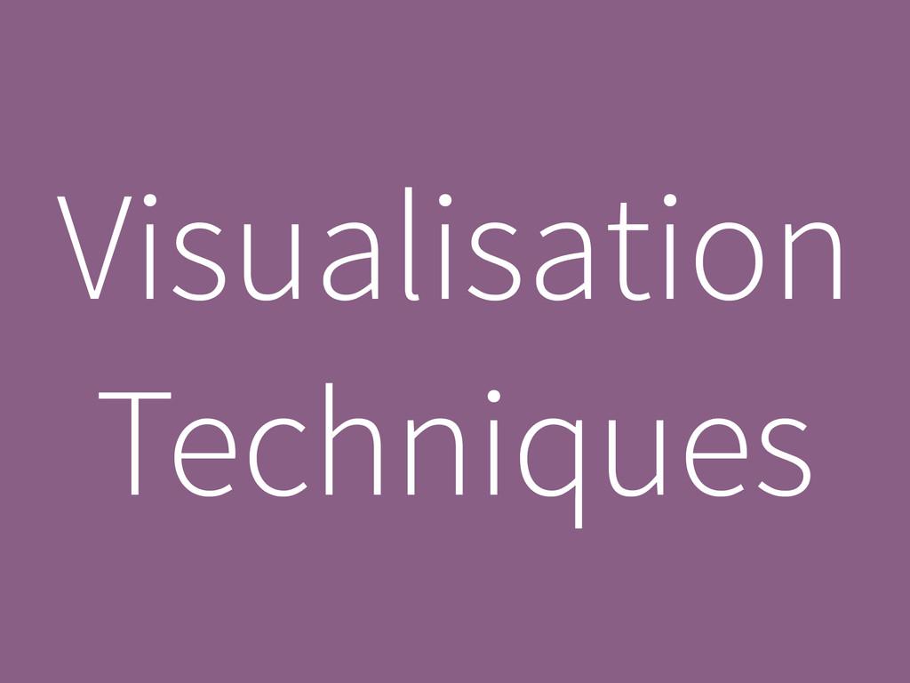Visualisation Techniques