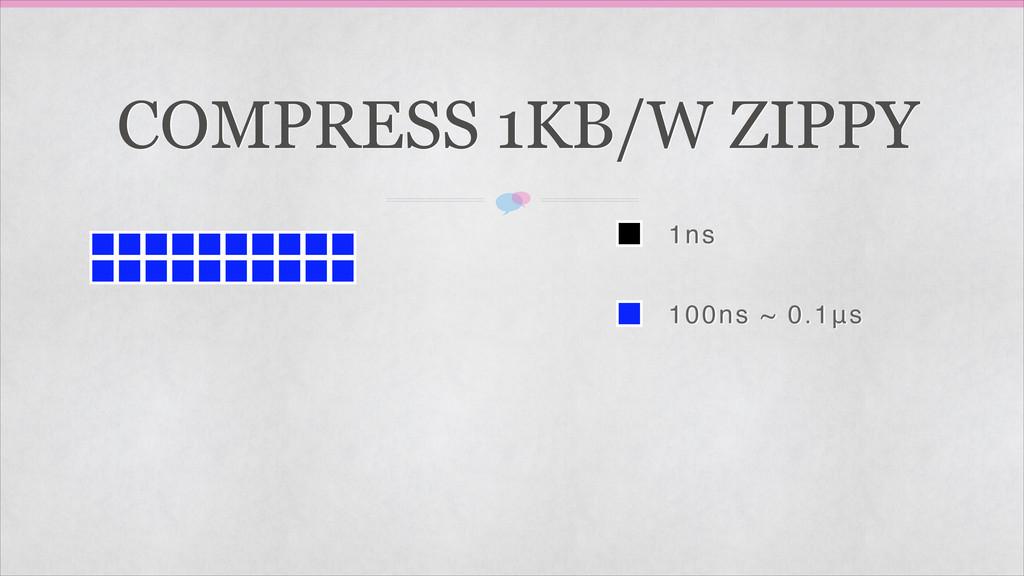1ns 100ns ~ 0.1μs COMPRESS 1KB/W ZIPPY