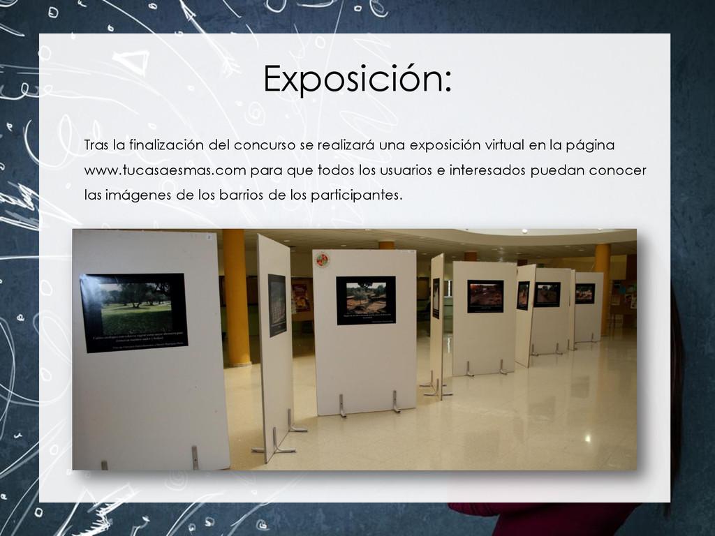 Exposición: Tras la finalización del concurso s...