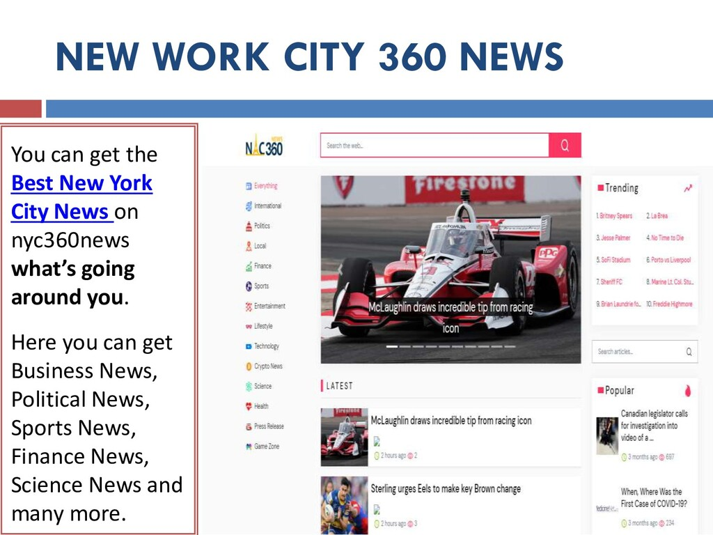 NEW WORK CITY 360 NEWS You can get the Best New...
