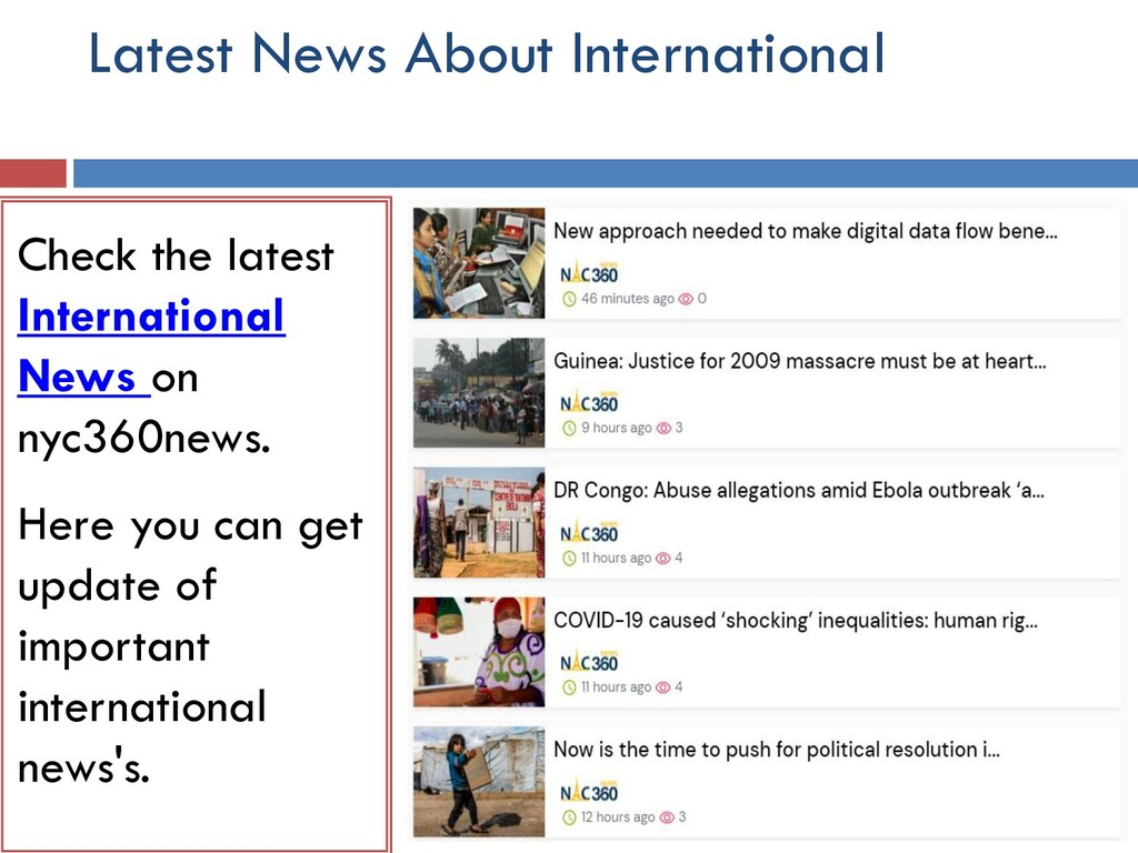 Latest News About International Check the lates...