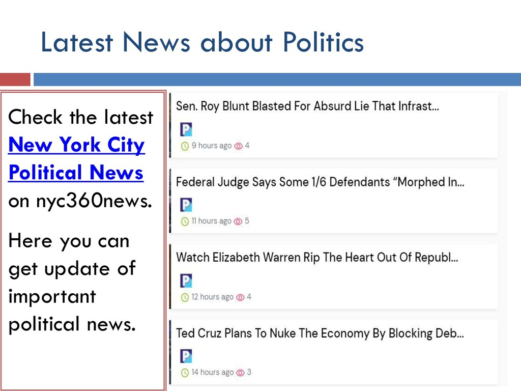 Latest News about Politics Check the latest int...