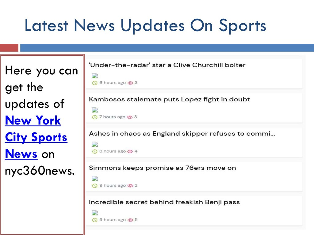 Latest News Updates On Sports Here you can get ...