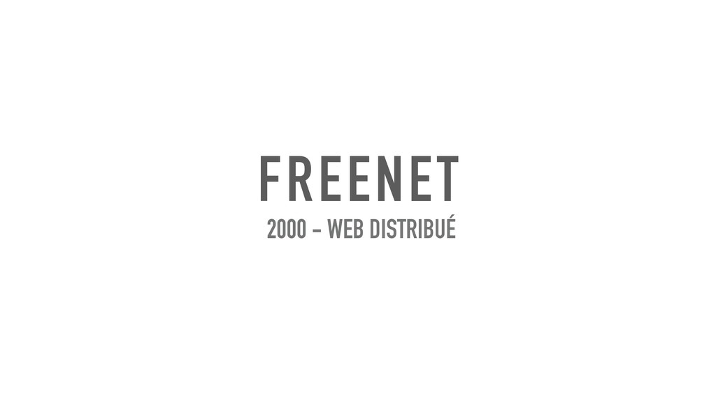 FREENET 2000 - WEB DISTRIBUÉ