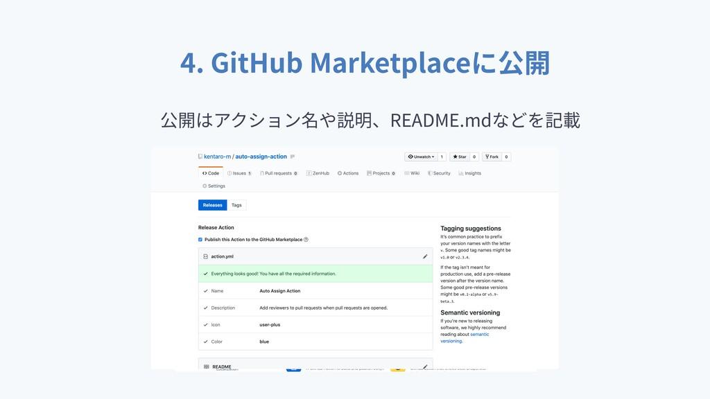 4. GitHub Marketplace README.md