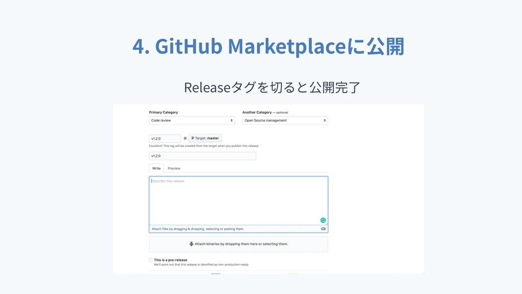 4. GitHub Marketplace Release