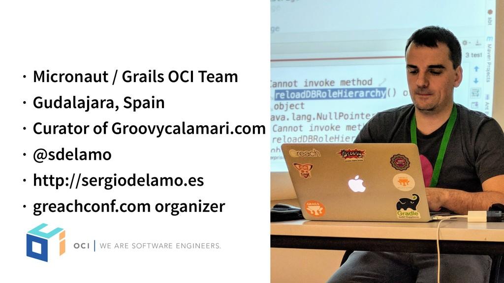 · Micronaut / Grails OCI Team · Gudalajara, Spa...