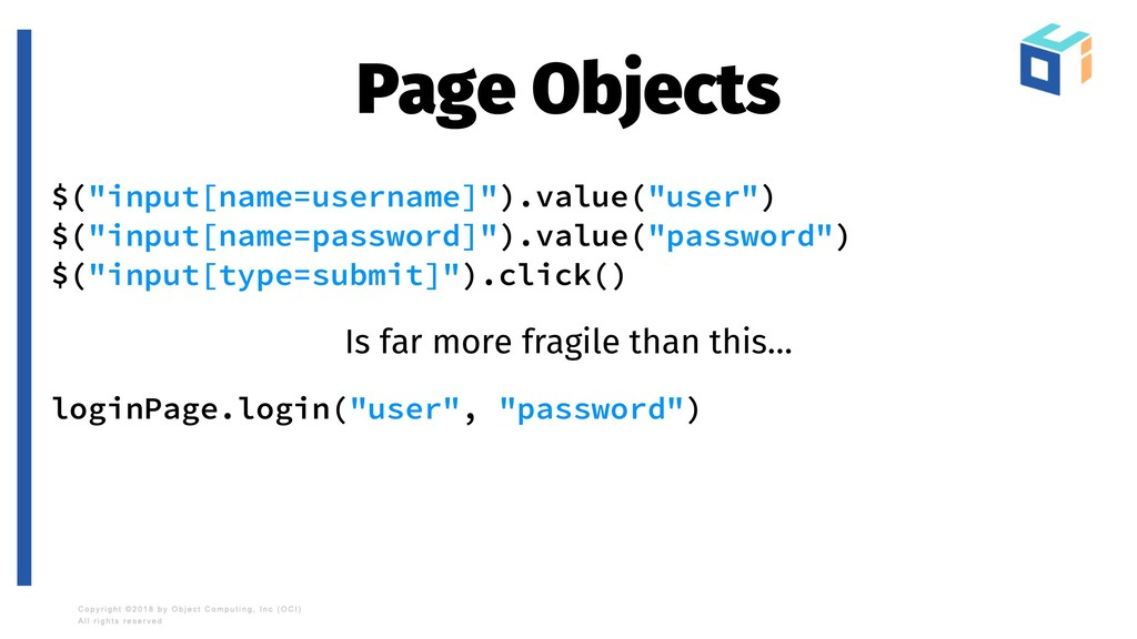 "Page Objects $(""input[name=username]"").value(""u..."
