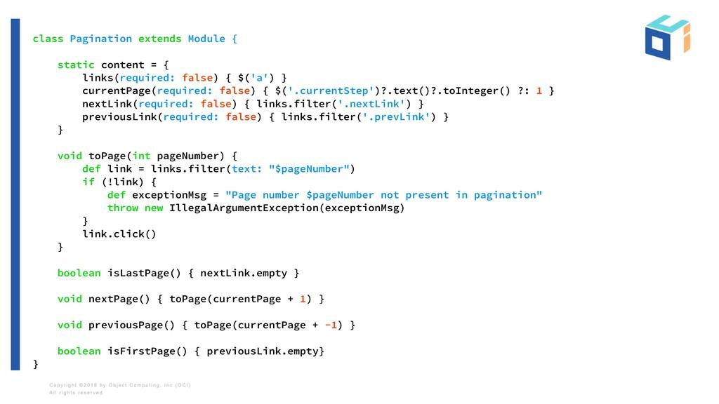 class Pagination extends Module { static conten...