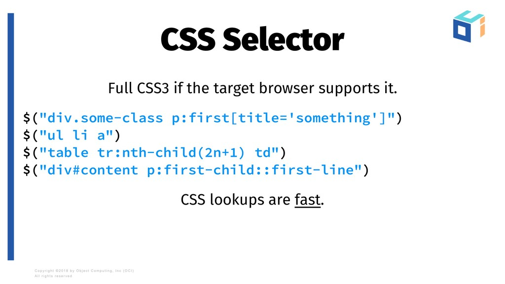 CSS Selector Full CSS3 if the target browser su...