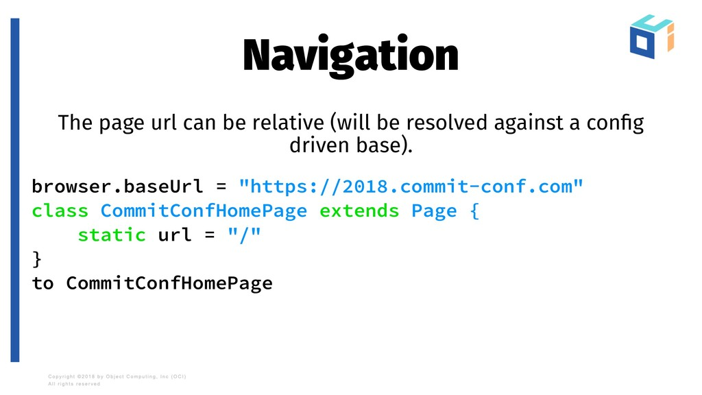 Navigation The page url can be relative (will b...
