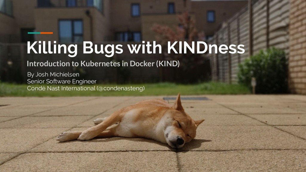 Killing Bugs with KINDness Introduction to Kube...