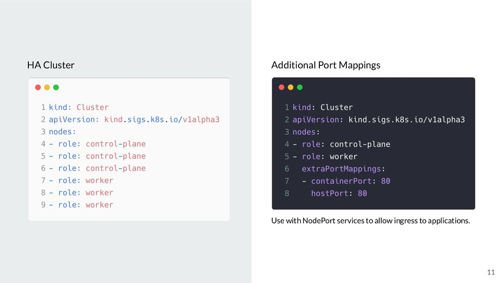 11 HA Cluster Additional Port Mappings Use with...