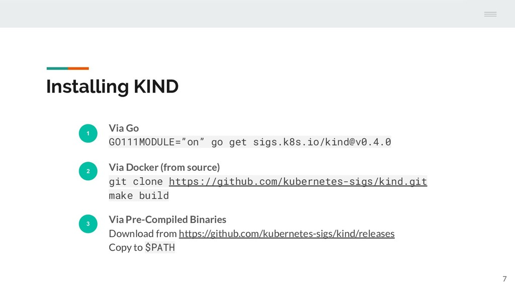 "Installing KIND 1 Via Go GO111MODULE=""on"" go ge..."