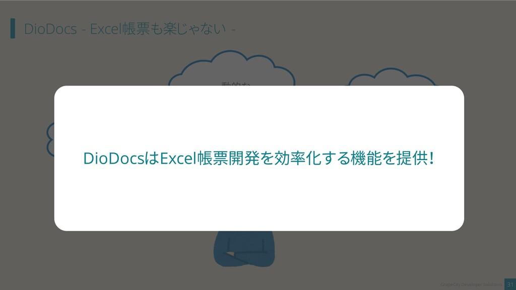 DioDocs - Excel帳票も楽じゃない - 31 GrapeCity Develope...