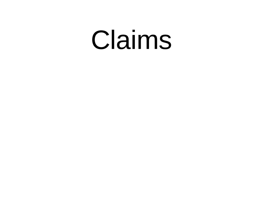 Claims Evidence Citations