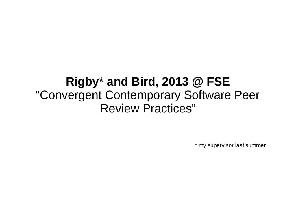 "Rigby* and Bird, 2013 @ FSE ""Convergent Contemp..."
