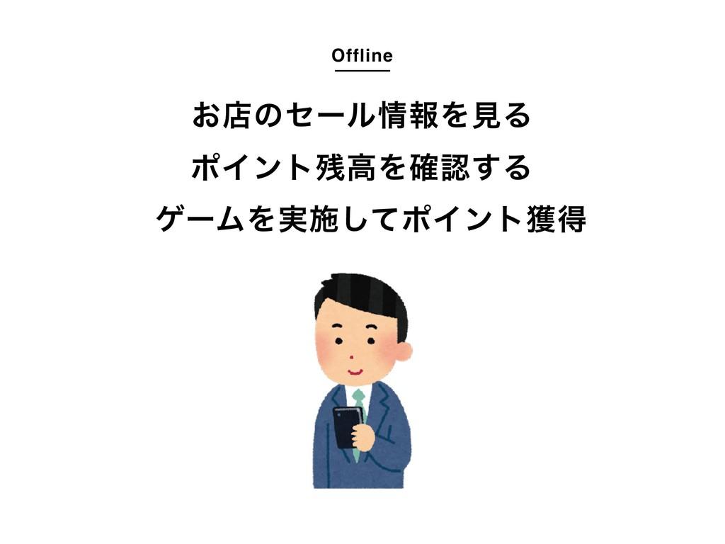 Offline ͓ళͷηʔϧใΛݟΔ ϙΠϯτߴΛ֬͢Δ ήʔϜΛ࣮ࢪͯ͠ϙΠϯτ֫ಘ
