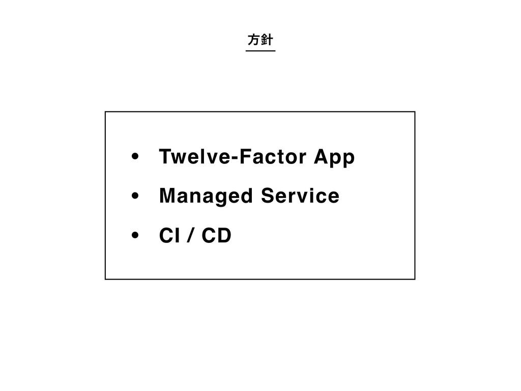 ํ Twelve-Factor AppΛ Managed ServiceΛ CI / CD