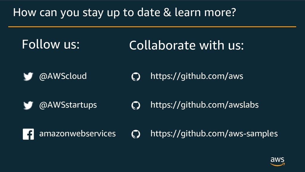 Follow us: How can you stay up to date & learn ...