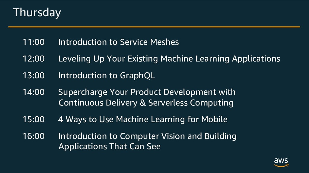 Thursday 11:00 Introduction to Service Meshes 1...