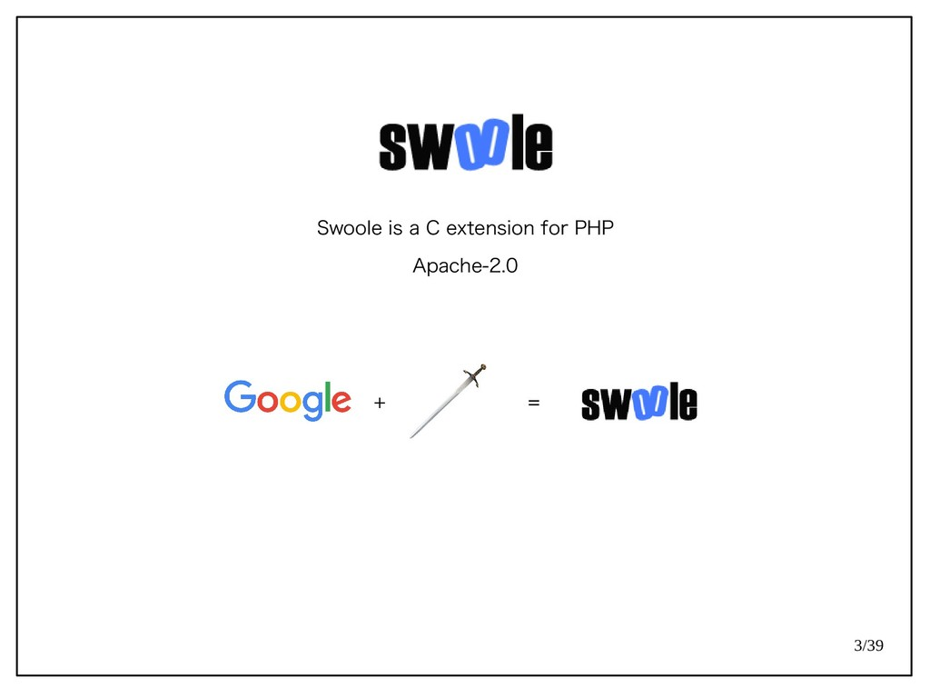 3/39 Swoole is a C extension for PHP Apache-2.0...