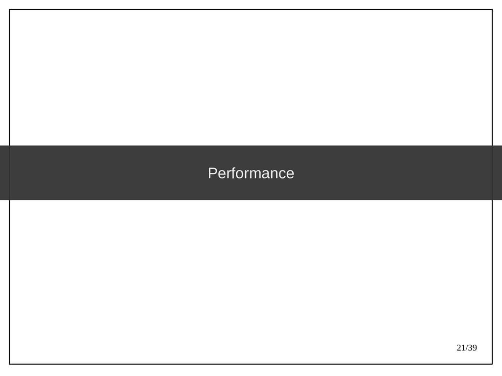 21/39 Performance