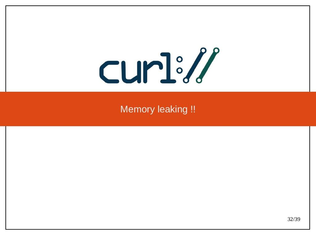 32/39 Memory leaking !!