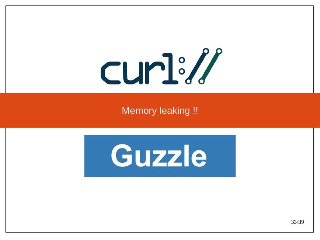 33/39 Memory leaking !!