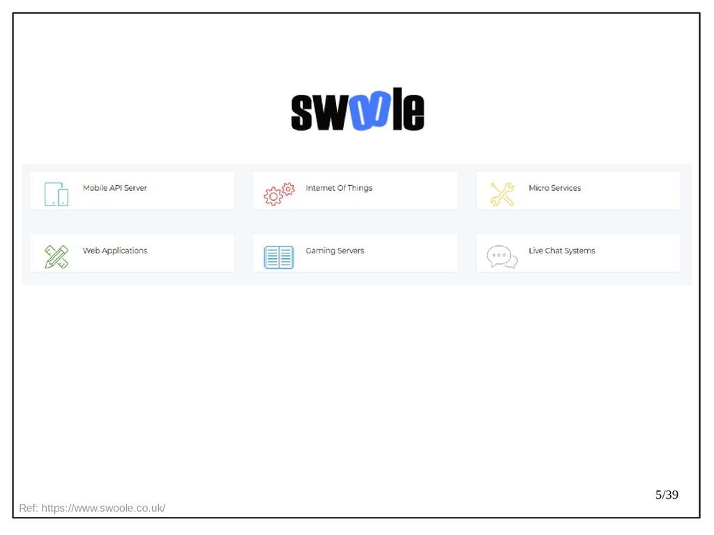 5/39 Ref: https://www.swoole.co.uk/