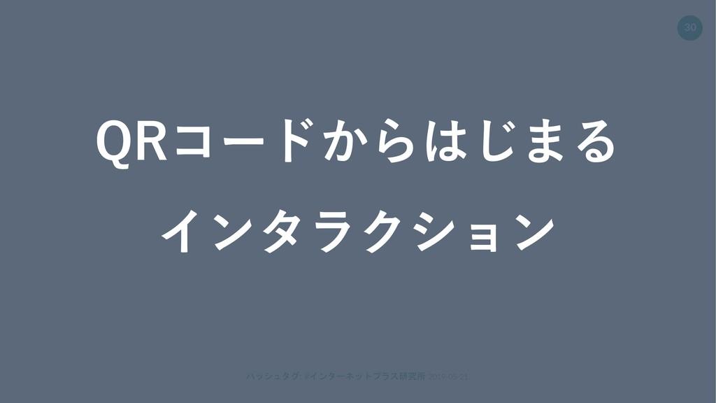 ハッシュタグ: #インターネットプラス研究所 2019-05-21. 30 QRコードからはじ...