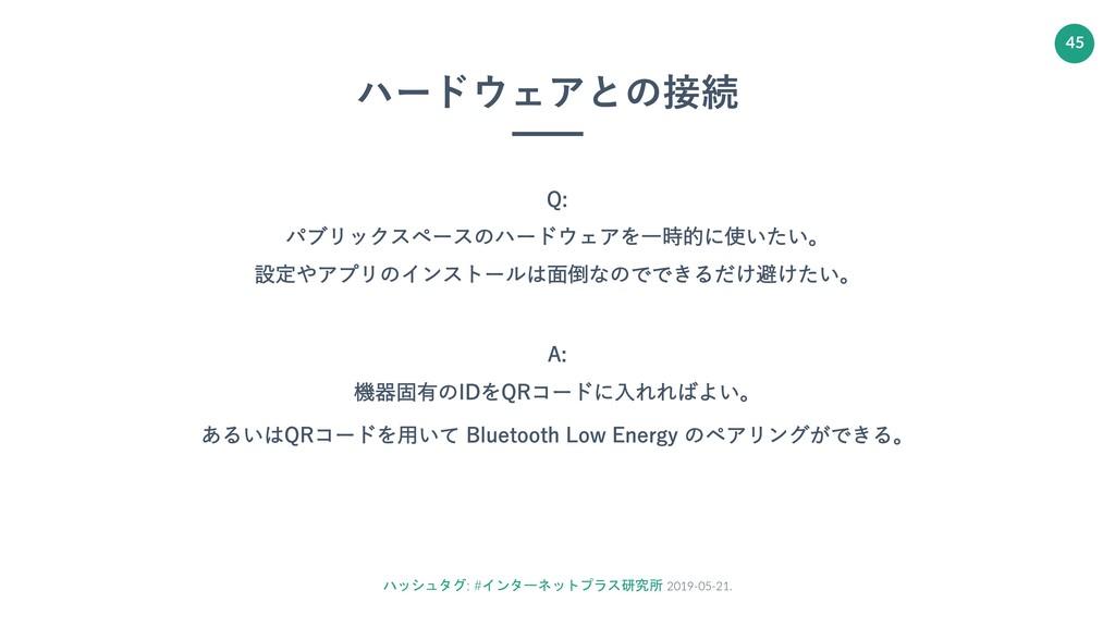 ハッシュタグ: #インターネットプラス研究所 2019-05-21. 45 ハードウェアとの接...