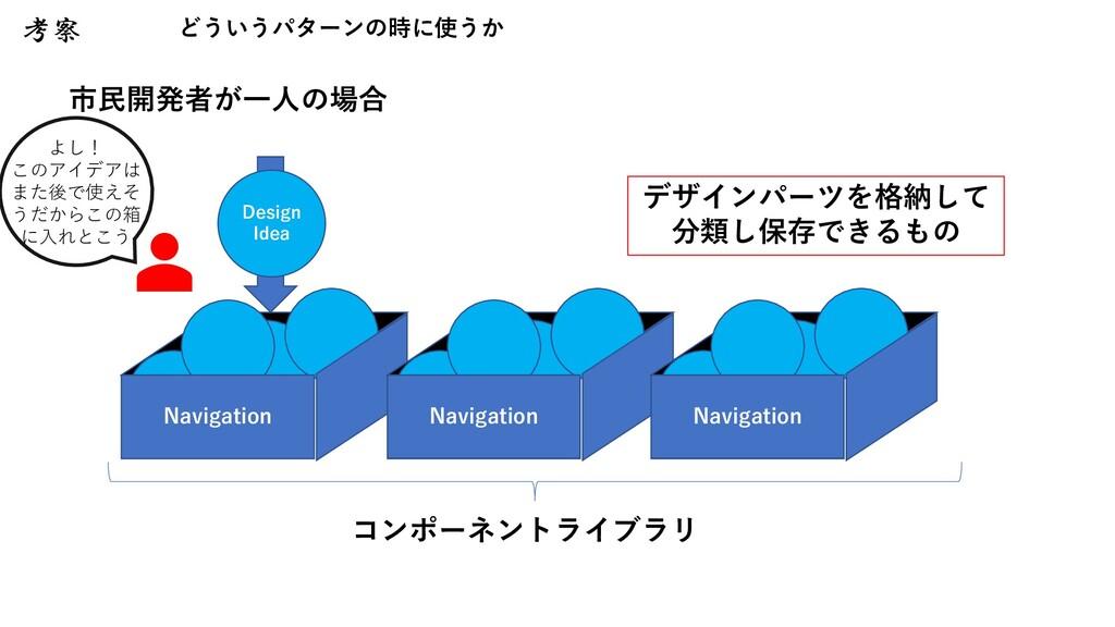 コンポーネントライブラリ Navigation Navigation Navigation よ...