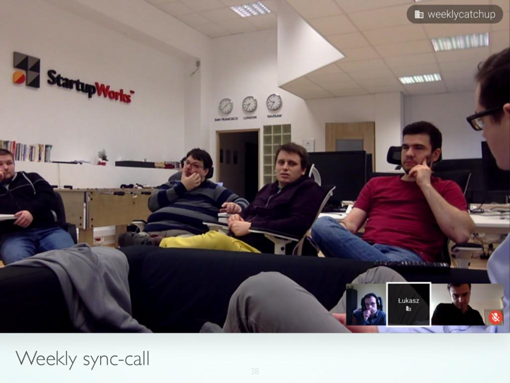 38 Weekly sync-call