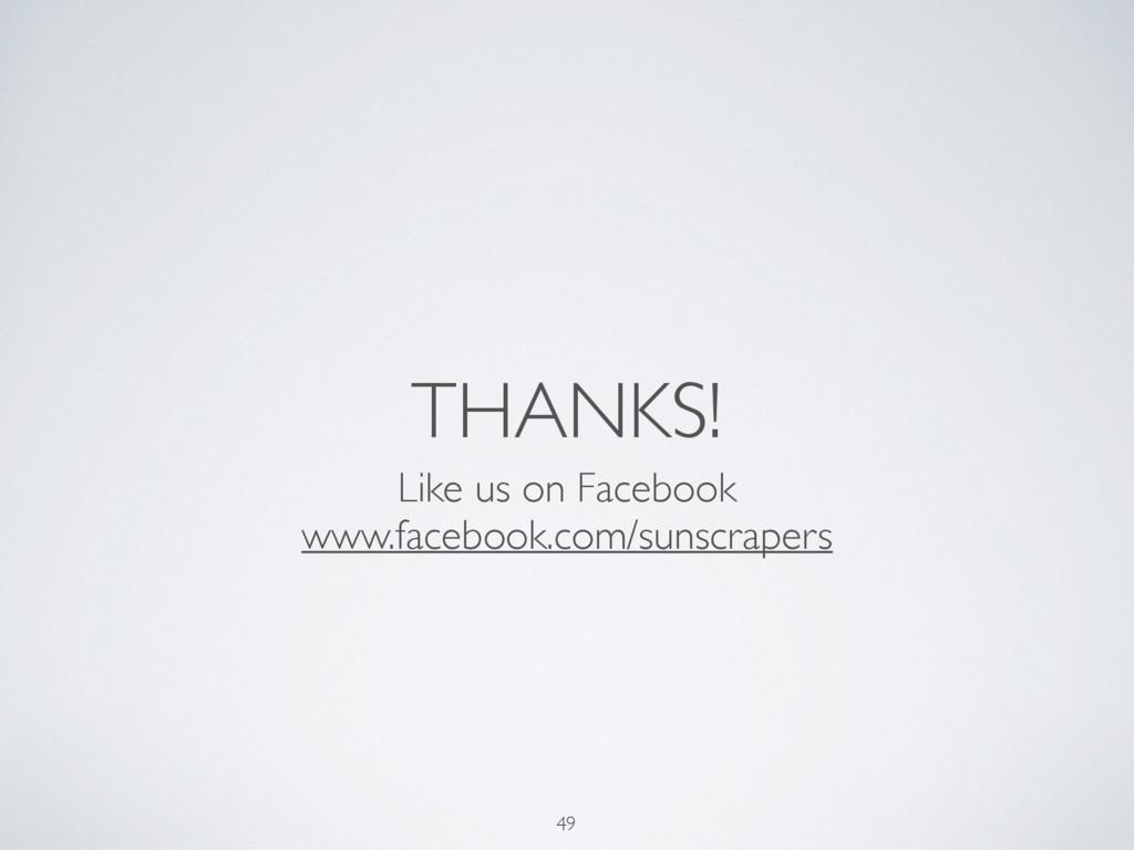 THANKS! Like us on Facebook www.facebook.com/su...