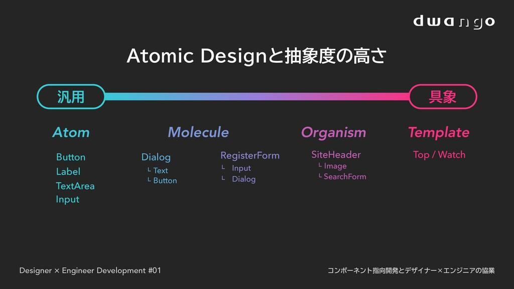 Designer × Engineer Development #01 コンポーネント指向開発...