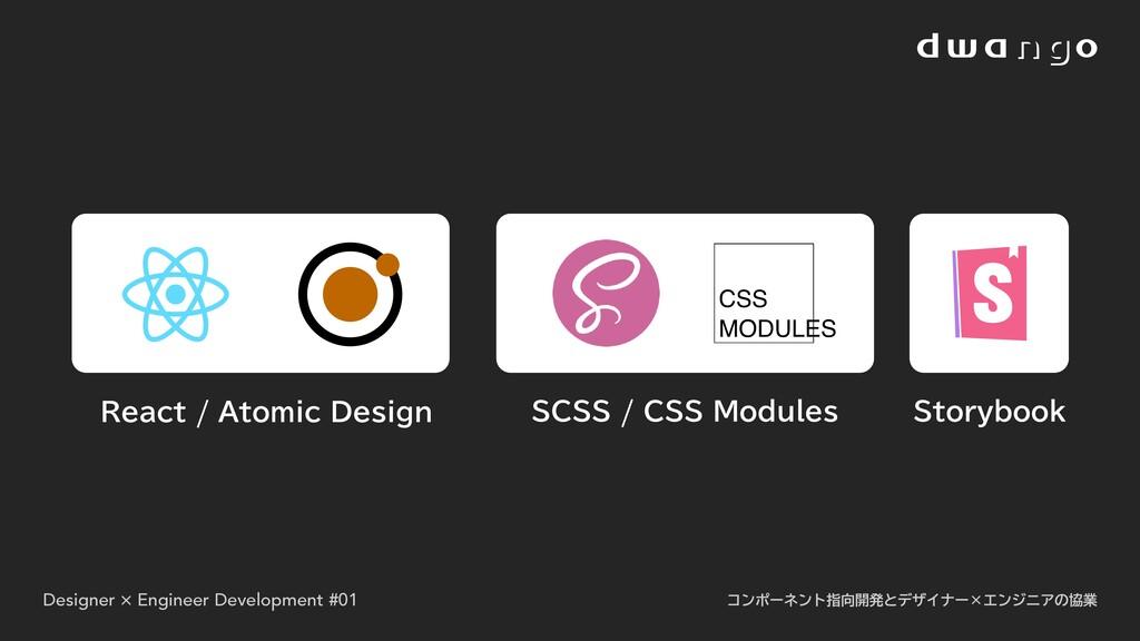 React / Atomic Design Storybook SCSS / CSS Modu...