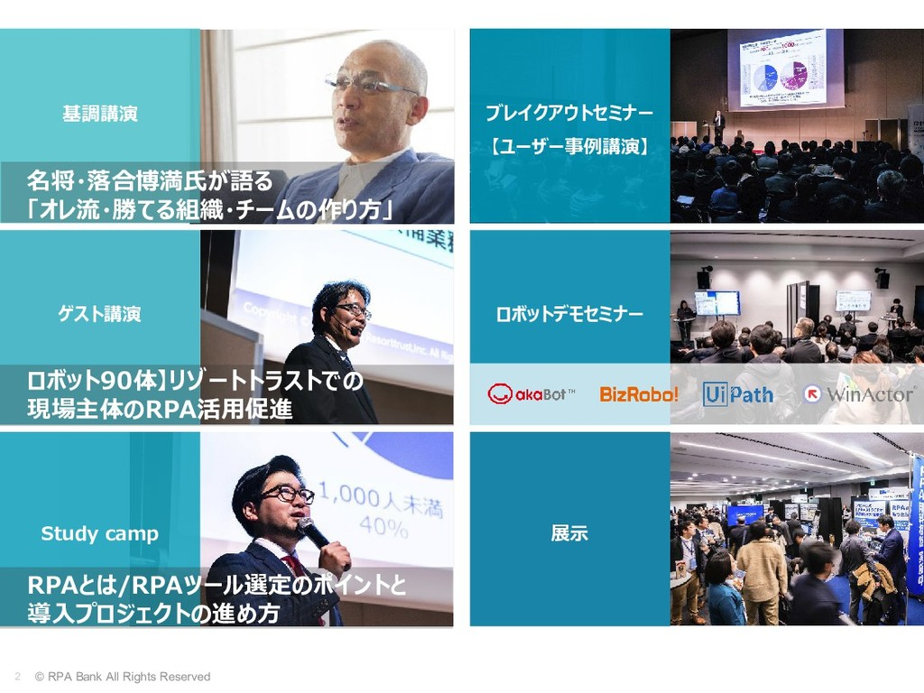 2 © RPA Bank All Rights Reserved 基調講演 ゲスト講演 Stu...