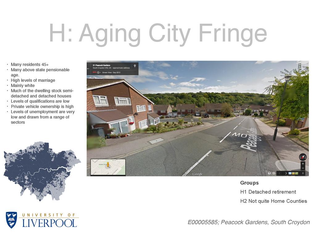 H: Aging City Fringe E00005585; Peacock Gardens...