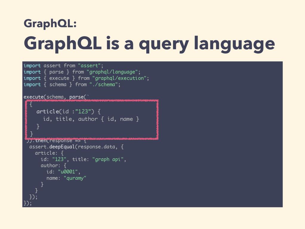 GraphQL: GraphQL is a query language import ass...