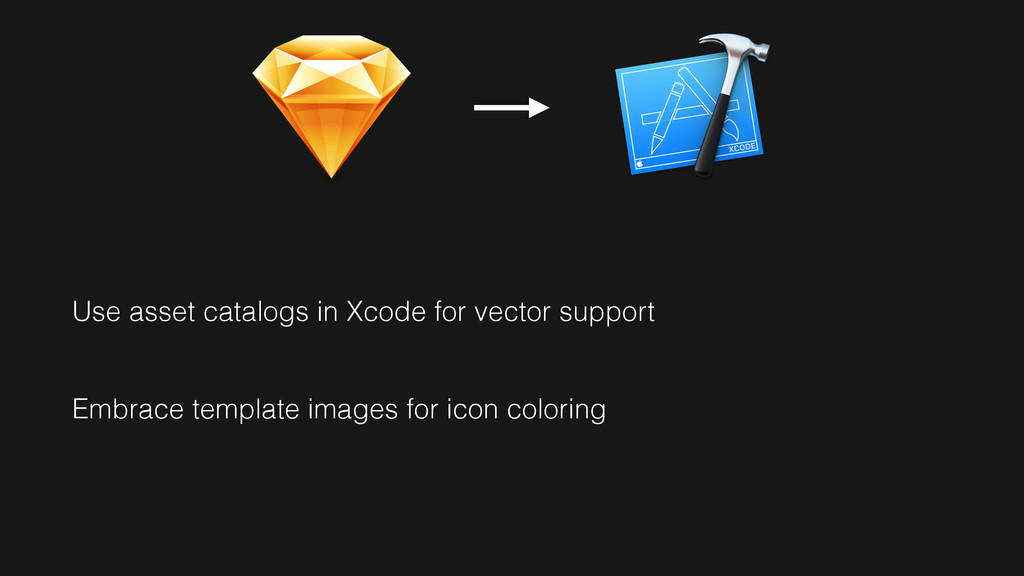 Use asset catalogs in Xcode for vector support ...