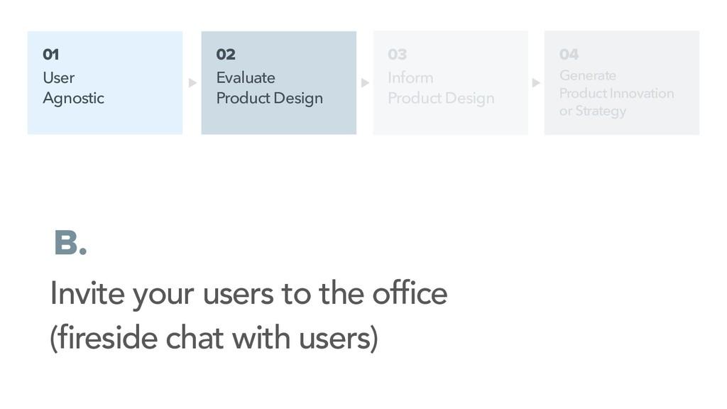 01 User Agnostic 02 Evaluate Product Design B. ...