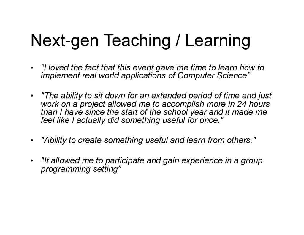 """Next-gen Teaching / Learning • """"I loved the fa..."""