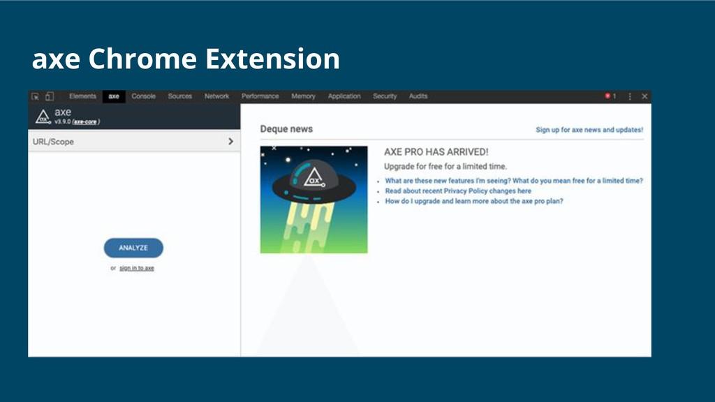 axe Chrome Extension