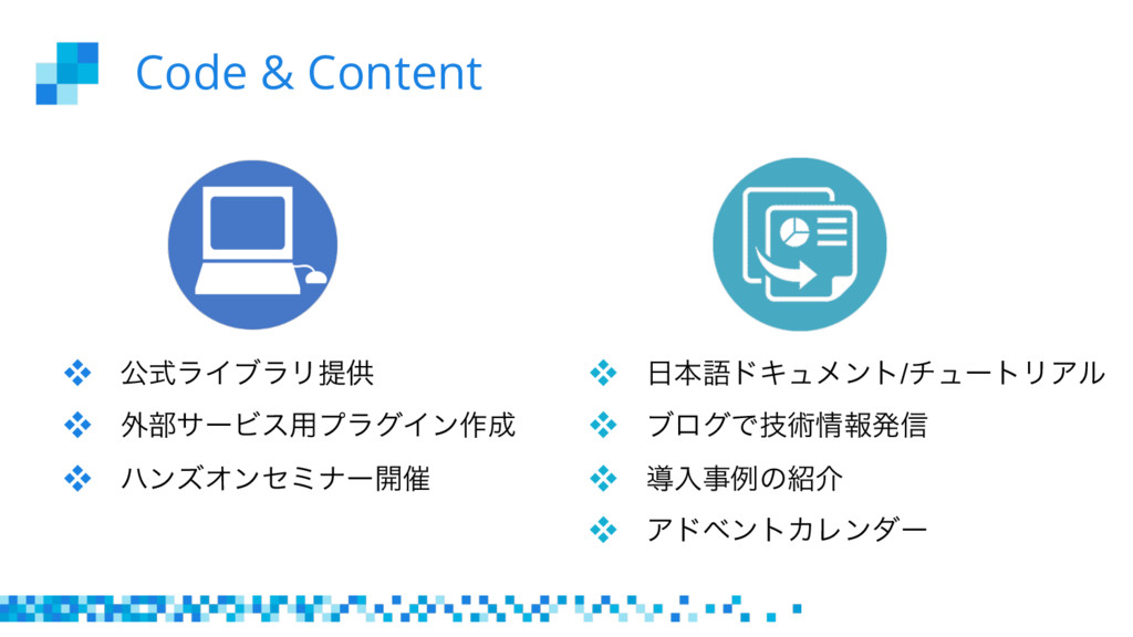 Code & Content  ެࣜϥΠϒϥϦఏڙ  ֎෦αʔϏε༻ϓϥάΠϯ࡞ ...