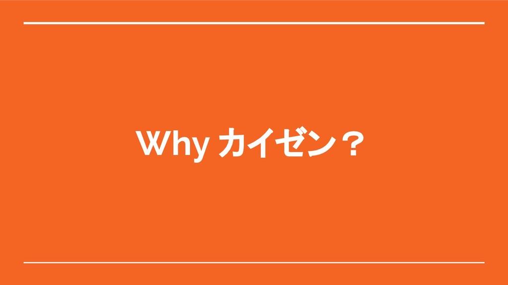 Why カイゼン?